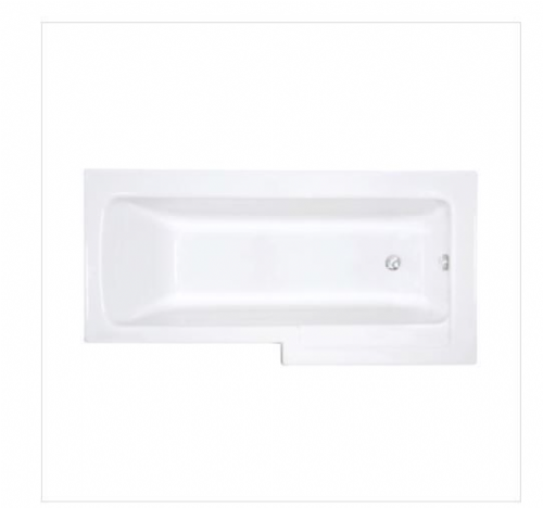 Vitra Neon Shower Bath, Right or Left Handed, Inc Front Panel & Glass Screen